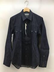 JLS-03-05/リジッドデニムカウボーイシャツ/長袖シャツ/44/コットン/IDG/スタッズ/