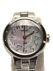 オリエント/wd02-q1-b/ソーラー腕時計/アナログ/ステンレス/SLV/SLV/中古