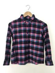 ビューティフルピープル/silk nel check kids shirt/--/シルク/PNK/中古