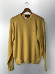 セーター(厚手)/L/コットン/YLW