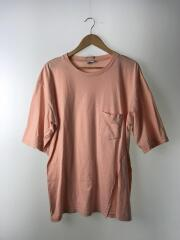 17SS/Silt pocket T-Shirt/US1257/Tシャツ/2/コットン/PNK/無地
