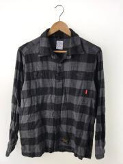 ネルシャツ/171GWDT-SHM07/S/コットン/グレー/チェック