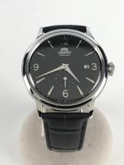 自動巻腕時計/アナログ/レザー/ブラック