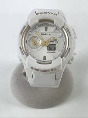 クォーツ腕時計/アナログ/--/WHT/WHT