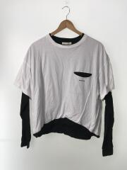 長袖Tシャツ/46/コットン/WHT
