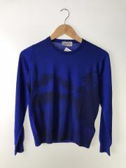セーター(薄手)/ウール/ブルー