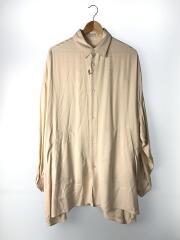 オーバーサイズシャツ/シルク混/長袖シャツ/1/レーヨン/CRM