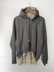 DOUBLE FACE SWEAT HOODIE/パーカー/L/コットン/GRY
