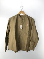 18AW/オックスフォードバンドカラーシャツ/長袖シャツ/38/コットン/BRW