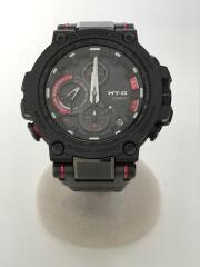 ソーラー腕時計・G-SHOCK/アナログ/ステンレス/レッド/ブラック