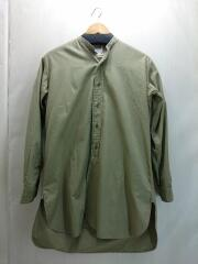 長袖シャツ/15/1963年製/ノーカラーオフィサーシャツ/ベージュ/イギリス軍/60s/古着