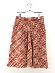 スカート/38/コットン/RED