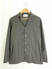 長袖シャツ/46/ナイロン/グレー/ストライプ/ストレッチシャツジャケット/RM171-006