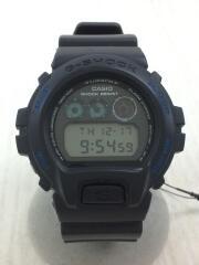 クォーツ腕時計/デジタル/ラバー/BLK/DW-6900FS/ダブルネーム
