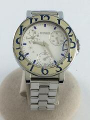クォーツ腕時計/アナログ/ステンレス/シルバー/VD76-KH80