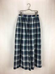 19年モデル/マドラスチェックロングスカート/M/コットン/ネイビー/H9S20-143-28