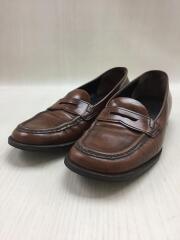革靴/コインローファー/37.5/ブラウン/茶色/レザー/本革/イタリア製/アンティーク加工
