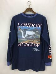 17AW/London Moscow World Tour Tee/ロンT/XXS/ネイビー/プリントロゴ