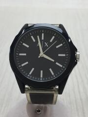 クォーツ腕時計/アナログ/ラバー/ミネラルガラス/ステンレススチール/ブラック/黒/AX2629