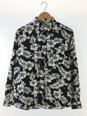 17SS/STAR FLOWER COTTON RAYON CLOTH/長袖シャツ/3/コットン/ブラック/黒