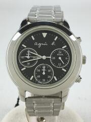 クォーツ腕時計/アナログ/クロノグラフ/ステンレス/文字盤(ブラック)/V654-6100