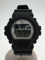 ロンハーマン/クォーツ腕時計/デジタル/ラバー/ホワイト/白/ブラック/黒/GLX-6900