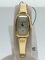 ソーラー腕時計/アナログ/クロスシー/ステンレス/ホワイト/白/ゴールド/G670-S070261