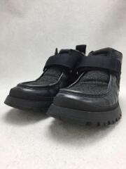 ベルクロウール切替スニーカーブーツ/vibramソール/ヴィブラムソール/UK8/ブラック/黒