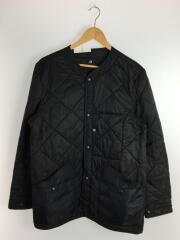 WURF/ノーカラー中綿キルティングジャケット/M/ナイロン/ブラック/黒/124-04-0104