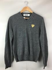 Gold Play V Neck Sweater/セーター/S/ウール/グレー/無地/AZ-N048