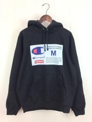 18FW/Label Hooded Sweatshirt/パーカー/M/コットン/BLK