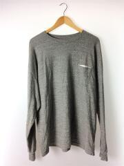 長袖Tシャツ/42/コットン/GRY
