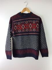 セーター(厚手)/36/ウール/NVY