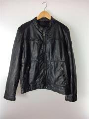 garcia jeans/レザージャケット・ブルゾン/L/フェイクレザー/BLK