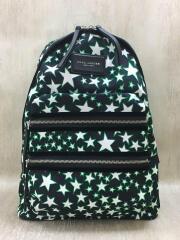 Flocked Stars Printed Biker Backpack/リュック/ポリエステル/BLK/総柄