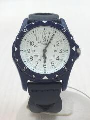Safari/大阪店1周年記念//クォーツ腕時計/アナログ/レザー/WHT/NVY