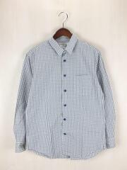 Touki Button no Shirts/長袖シャツ/M/コットン/ギンガムCK/E-15406