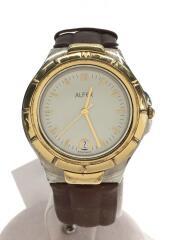 ALFEX/クォーツ腕時計/アナログ/WHT