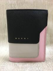 SMALL WALLET/VANITOSI WALLET/2つ折り財布/レザー/BLK
