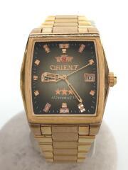 スリースター/自動巻腕時計/アナログ/ステンレス/GLD/NQAC-R0