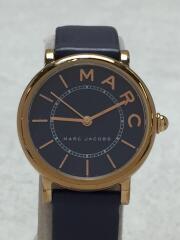 MJ1539/クォーツ腕時計/アナログ/レザー/NVY/NVY