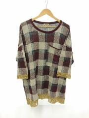 セーター(薄手)/XXS/コットン/マルチカラー/ブラウン/チェック/1577-343-3542