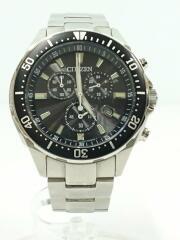 クォーツ腕時計/エコドライブ/クロノグラフ/アナログ/ステンレス/H500-5064538