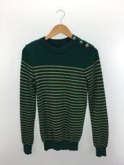 セーター(厚手)/S/ウール/GRN//   クルーネック ハイゲージ ボーダー