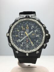 クォーツ腕時計/アナログ/ラバー/BLK/BLK/RECON/8840