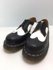 ウイングチップシューズ/ブーツ/UK7/BLK/5ホール/10458
