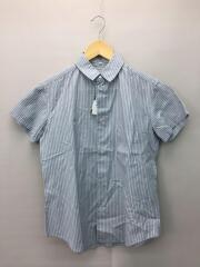 半袖シャツ/2/コットン/BLU/ストライプ