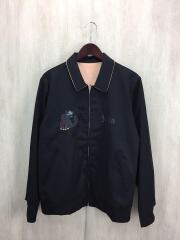 ギャバ刺繍/ベトジャン/ブルゾン/2/ウール/BLK/JUS4201