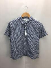 半袖シャツ/2/コットン/NVY/ギンガムCK