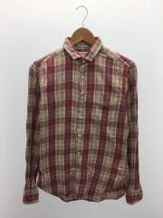 ネルシャツ/14.5/コットン/RED/チェック